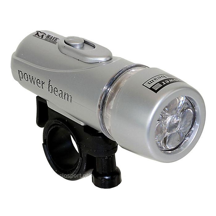 LAMPA PRZÓD LED - 5 - LEDOWA SUPER BRIGHT LED ( 2 - FUNKCJE) / Z BATERIAMI /
