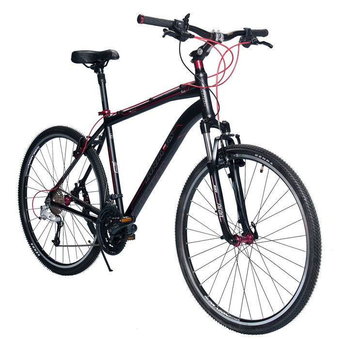 BICYCLE   BIRIA CROSS - ALIVIO/ DEORE 3 x 9 RST NEON RL Matt Black