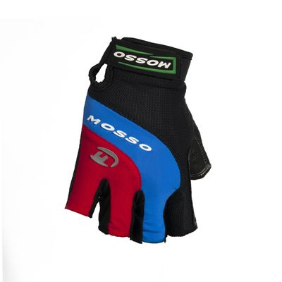 BICYCLE GLOVES MOSSO GL-01 Col. Black / Blue / Red - Size: L