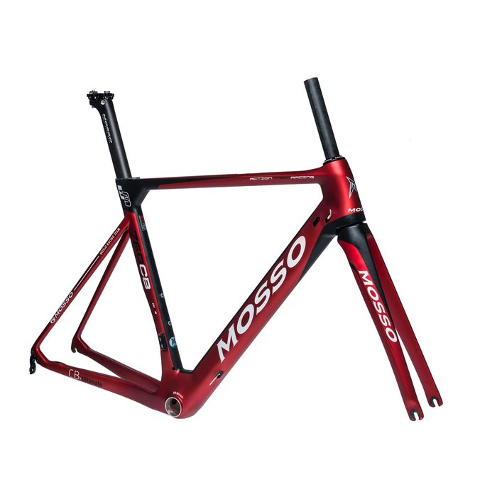 FRAME RACE CARBON MOSSO MOD. 760CB  - (520 mm)   Matt Black / Matt  Cadmium Red colour