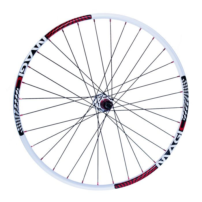 "REAR WHEEL  REMERX MAGIC 28"" -29"" HUB  NOVATEC D712SB / SUPERLIGHT / 32-holes White colour"