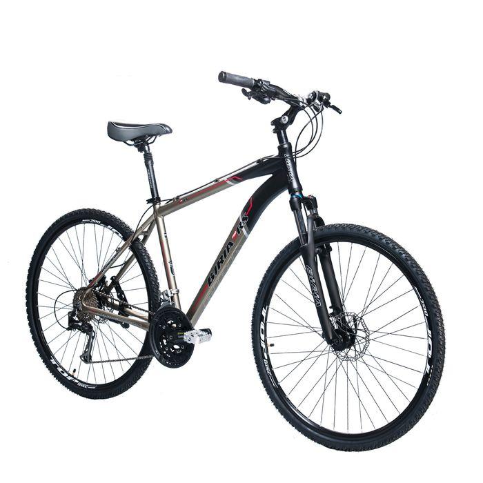 BICYCLE   BIRIA CROSS - SHIMANO ALIVIO -3x 9 HYDRO BRAKES  Matt Graphite / Matt Black