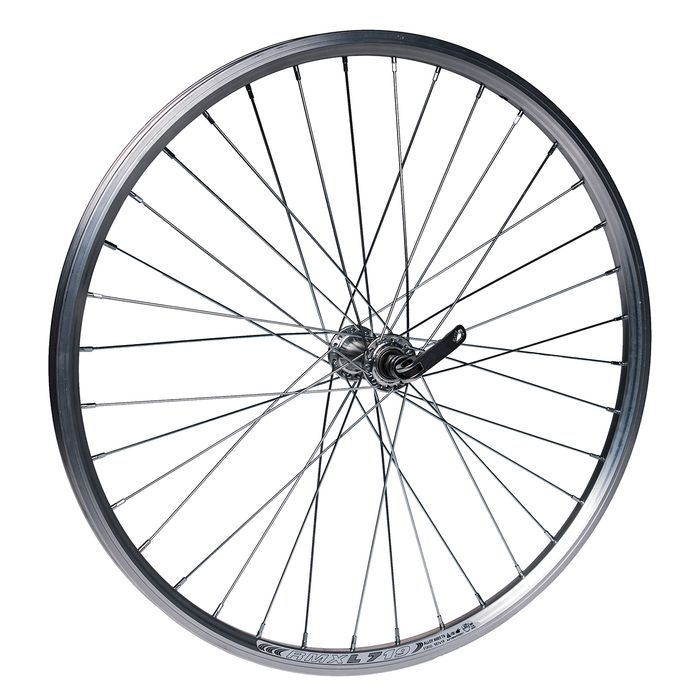 """FRONT WHEEL  -24"""" RIM REMERX DRAGON L-719 mopunting on quick release - Silver colour"""