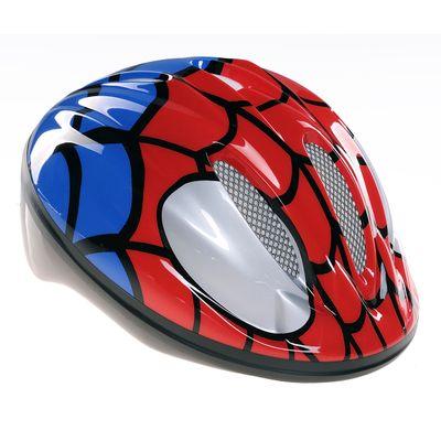 """KASK ROWEROWY DZIECIĘCY - ROZMIAR :(50-56) /14- OTWORÓW WENTYLACYJNYCH Z SIATKĄ MODEL 'Spider-Man"""""""