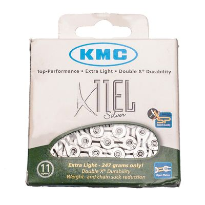 CHAIN KMC X-11-EL -SILVER -114 Links -  11 speed Col. Silver