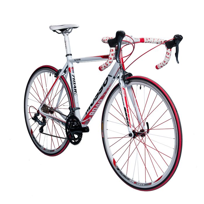 ROAD BICYCLE  MOSSO 710ARC SHIMANO CLARIS 2x8 White / Gray / Red Line