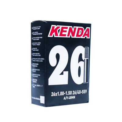 TUBE  KENDA MOLDED 26x1.00-1.50 AV=48 mm -BOX