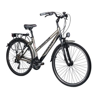 TREKKING BICYCLE  BIRIA SHIMANO TX/ALIVIO-3x8 Matt Graphite / Matt Black