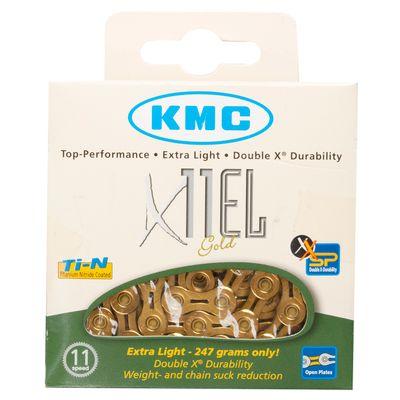 ŁAŃCUCH KMC X-11-EL GOLD 11 B. -114 OGN.ZŁOTY