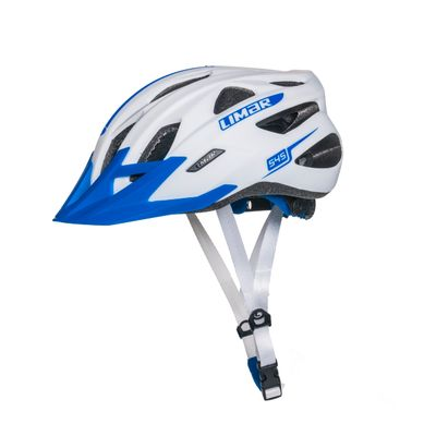 MTB LIMAR 545  WHITE MAT / MATT BLUE - L (57-62 cm)