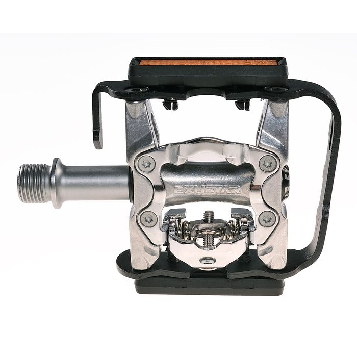ALUMINUM PEDALS  MTB EXUSTAR WITH REFLECTION ./319 g/- DUAL MODE