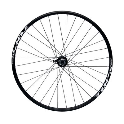 "FRONT WHEEL REMERX TOP DISC 28""-29"" HUB JOYTECH MACHINE BEARING / 32-holes. Col. Black - Disc mounting :IS (6 screw) -Shimano"
