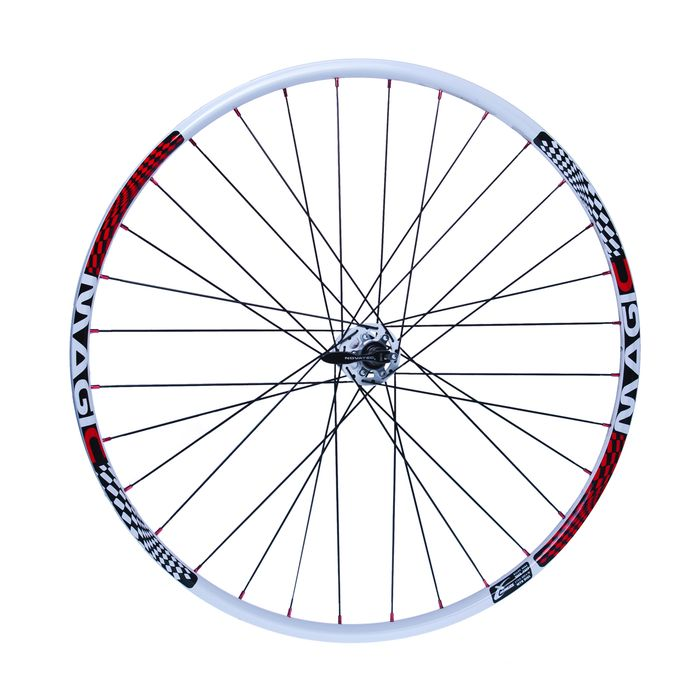 "FRONT WHEEL  REMERX MAGIC  28"" -29""  HUB  NOVATEC D711SB  / SUPERLIGHT  / 32-holes White colour"