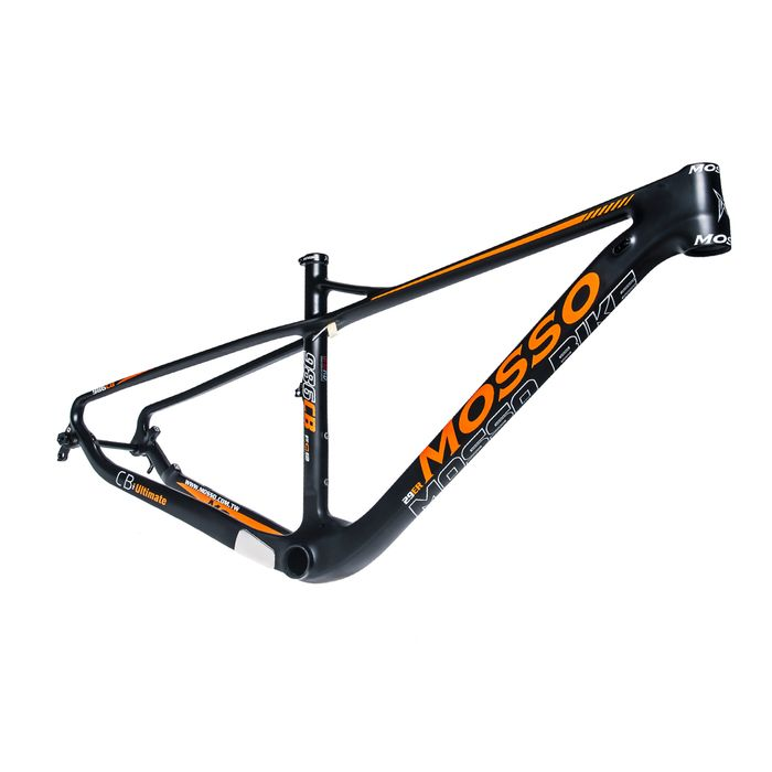 "FRAME MTB-29 CARBON MOSSO-986-17""  Matt Black / Orange colour"