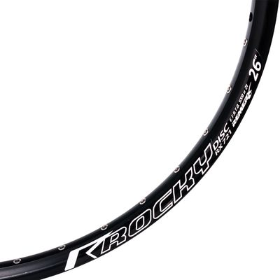 "RIM ROCKY DISC RX 721 - 26"" (559x 21) - 36 holes, White colour, for DISC BRAKE"