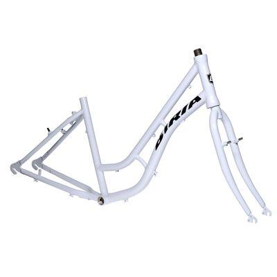 """FRAME TC  Aluminum  + STEEL FORK - 17""""-White"""