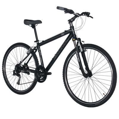 "BICYCLE CROSS BIRIA SIMANO TX /ALIVIO 3x8 Col. BLACK MATT/WHITE LINE  - Frame Size: 21"" ( 53 cm)"