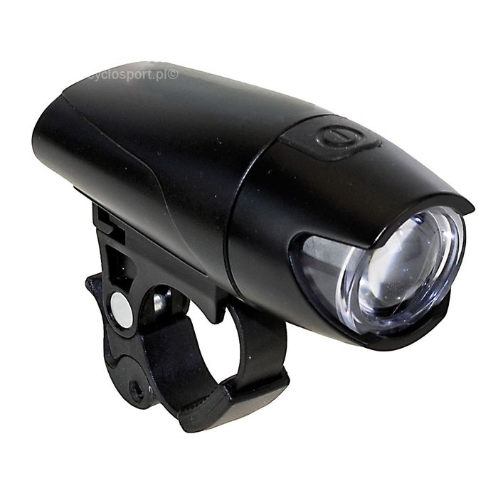 LAMPA BATERYJNA PRZÓD M-WAVE LED BARDZO JASNE ( 2-FUNKCJE) 0,5 WATT / Z BATERIAMI / NA KIEROWNICĘ OD 22,2 -31,8mm