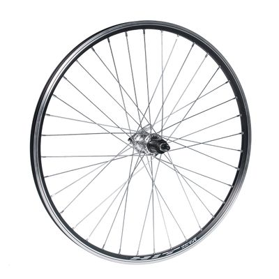 "REAR WHEEL  26""P.FORMULA-SILVER .7-KAS-RIM  .HIT-BLACK"