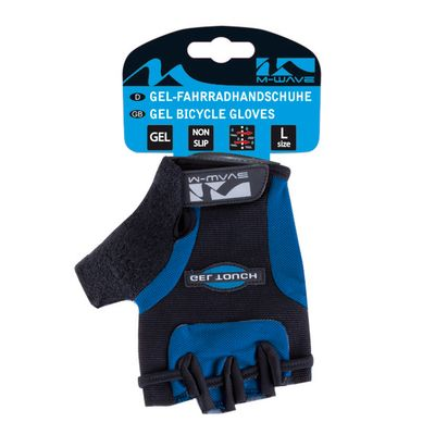 "BICYCLE GLOVES  ""M-WAVE""-GEL  - Blue"