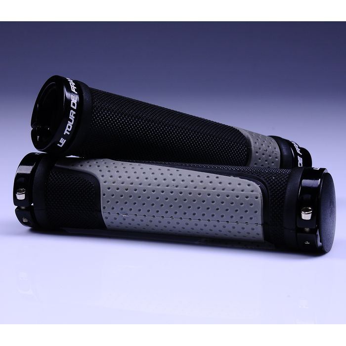 "STEERING HANDLE  VELO GRIP""TOUR DE FRANCE""-130mm-BLACK / GRAY"