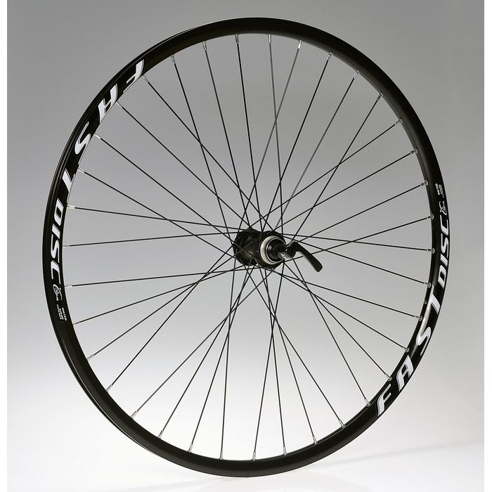 "WHEEL  28""P.DEORE-DISK 36holes  BLACK -O.FAST DISC-BLACK FRONT"