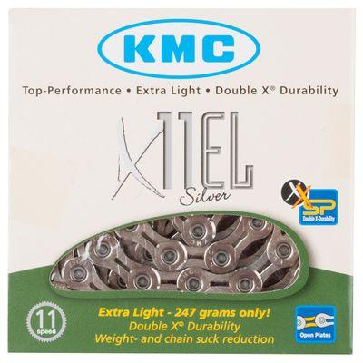 ŁAŃCUCH KMC X-11-EL -SILVER 11 B. -114 OGN.SREBRNY