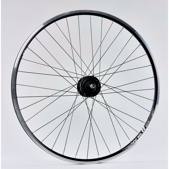"WHEEL  -28"" DRONT RIM  REMERX Well black colour  HUB SHIMANO-generator 3W/6V"