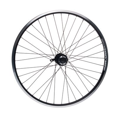 "FRONT WHEEL REMERX DRAGON 26""HUB JOYTECH FOR FREEWHEEL (6 screws mounting) / 36-holes. Col. Black"