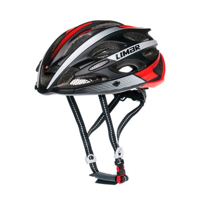 ROAD HELMET  LIMAR 104 ULTRALIGHT+ Color:Matt Black /Matt Red - Size: M-(53-57 cm)