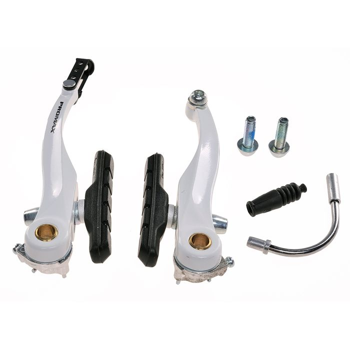 BRAKE   ALU V-BRAKE ' PROMAX ' / H-110mm KLOCEK - 70mm ( FRONT  + BACK  )WHITE