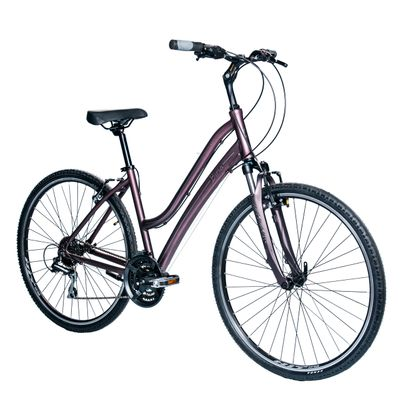 "BICYCLE  BIRIA ""LADY STYLE"" CROSS LADIES  TX /ACERA 3 x 8 SUSPENSIO FORK WITH BLOCADE  Matt Brown"