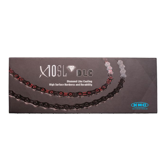 CHAIN KMC X-10 SL DLC- 116 OG.-10 B BLACK RED