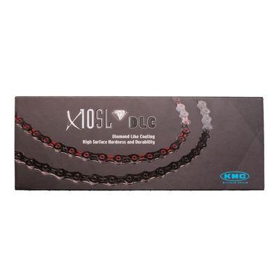 CHAIN KMC X-10 SL DLC- 116 OG.-10 B BLACK RED