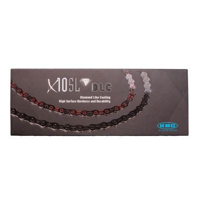 ŁAŃCUCH KMC X-10 SL DLC- 116 OG.-10 B-CZARNO-CZERW