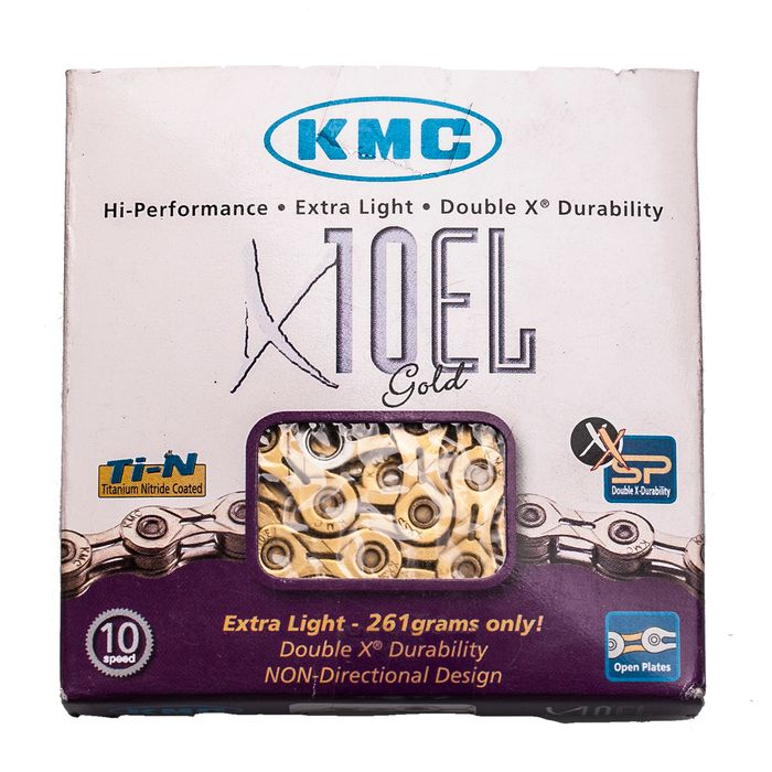 CHAIN KMC X-10-EL-GOLD-114 links-10 speed.  Col. Gold