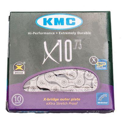 ŁANCUCH KMC X-10-73 - 114 OGNIW-10 BIEGÓW-SZARY-P