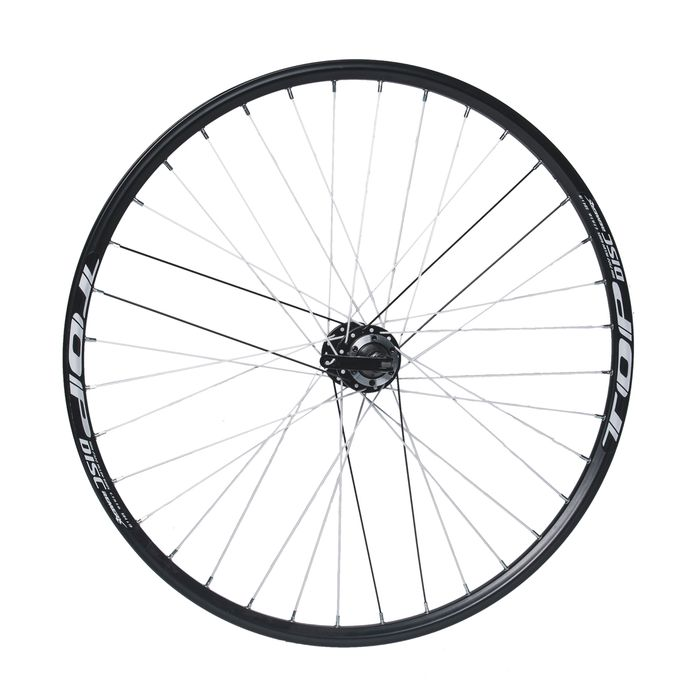 "REAR WHEEL  REMERX TOP DISC 27,5""/650B  HUB JOYTECH (mounting disc for 6 screws) / 36-holes  Black colour"