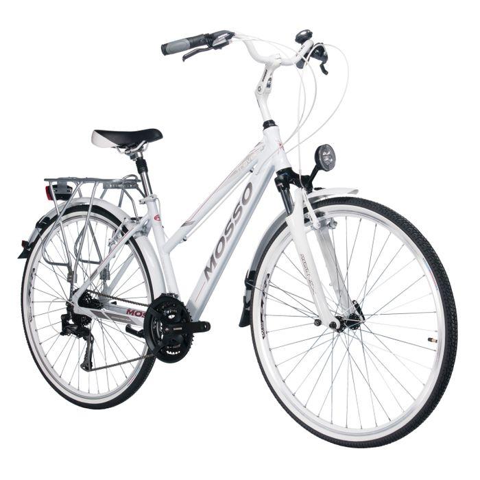 TREKKING BICYCLE MOSSO TRAVELER TX/ALIVIO 3x8 White