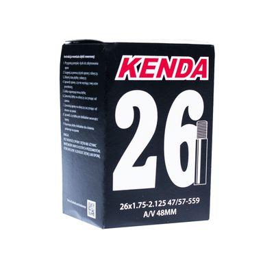 """DĘTKA """" KENDA MOLDED 26"""" x 1,75 - 2,125 ( 47/57- 559) WENTYL : AV- AUTO WENTYL"""
