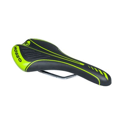 SADDLE MOSSO SD-15  MEN'Sfor bicycle MTB I RACE   - Black / Green