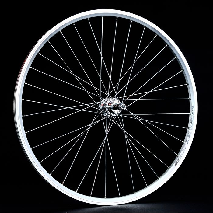 "BACK WHEEL -26"" OBRĘCZ REMERX DRAGON -L 719silver colour  -HUB  JOYTECH- (for freewheel : 6,7 speed)."