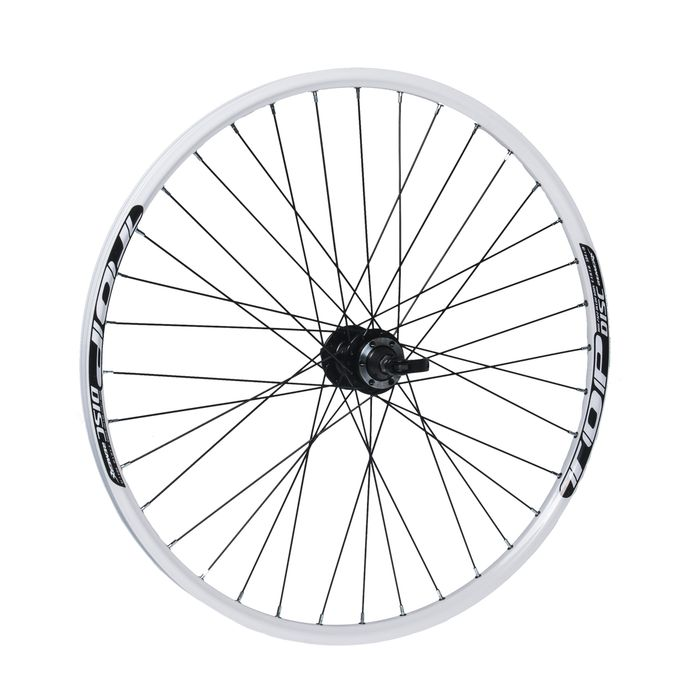 "REAR WHEEL  REMERX TOP DISC 27,5""/650B HUB  JOYTECH mounting disc 6 screws  / 36-holes white colour"