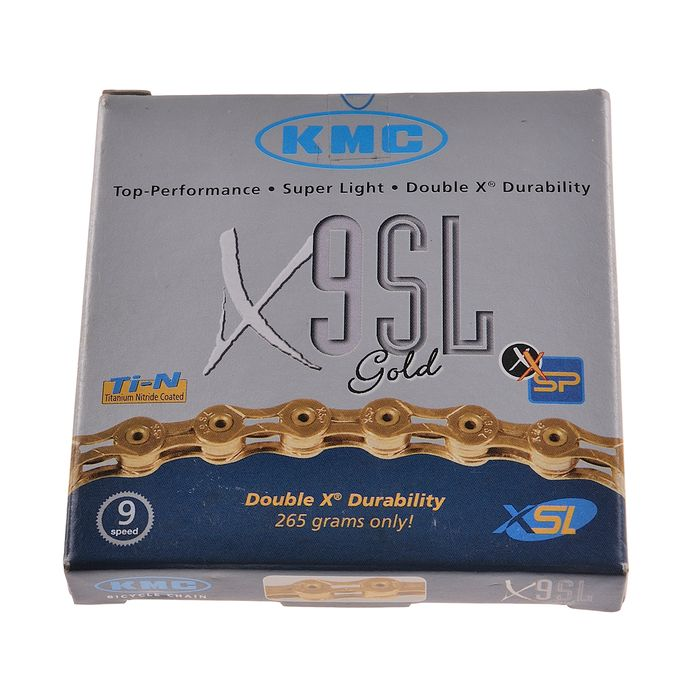 CHAIN  KMC X-9 -SL GOLD  116 Links -  9  speed Col. Gold