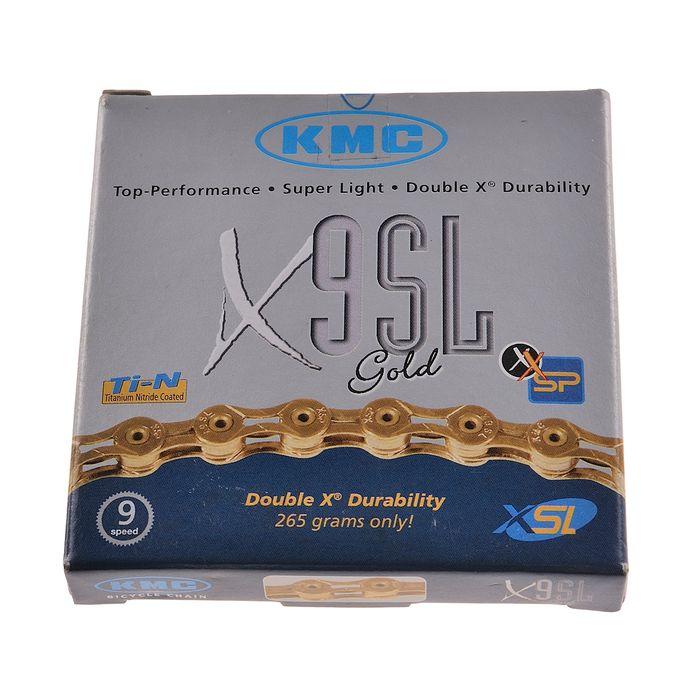 ŁAŃCUCH KMC X-9 -SL GOLD 116 ogniw- 9- rzędowy Kol. Złoty
