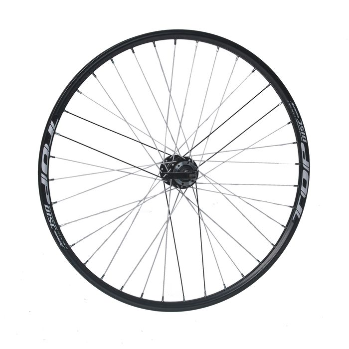 "FRONT WHEEL REMERX TOP DISC 27,5""/650B HUB JOYTECH (Disc mounting 6 ścrews) / 36 holes  Black colour"