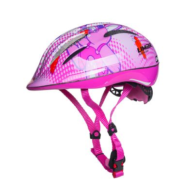 KIDS HELMET LIMAR 242 SUPERLIGHT WITH REAR LAMP LED PINK- RABBIT