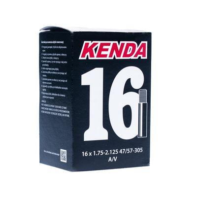 "TUBE  ""KENDA MOLDED "" 16"" x 1,75- 2,125 ,( 47/57 - 305) - WALVE: AV - AUTO VALVE"