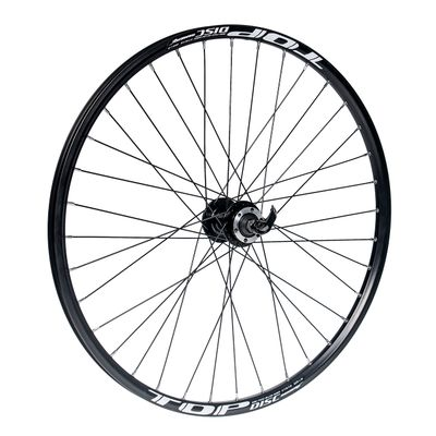 "FRONT WHEEL  26""P.JOYTECH-DISK OB.TOP DISC-BLACK"