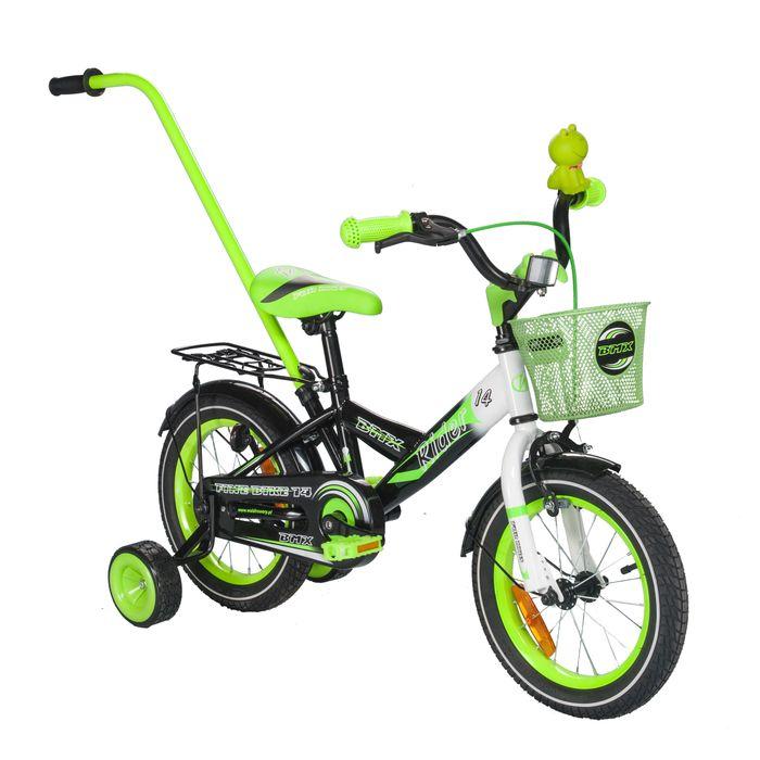 "CHILDREN'S BICYCLE 14"" RIDER GREEN / WHITE"